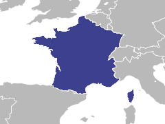 Carte de la région : France
