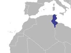 Carte de la région : Tunisie